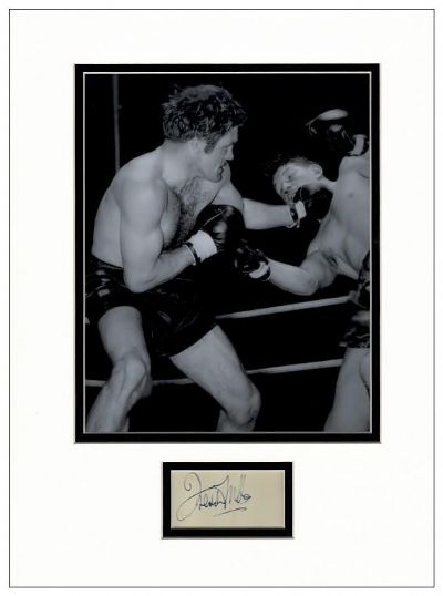 Freddie Mills Autograph Signed Display